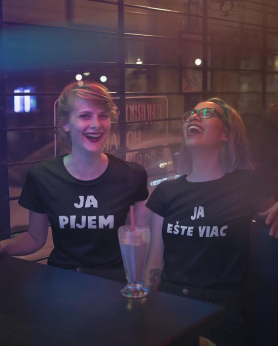 Smiešne tričká KOMPLET - pijeme dvaja