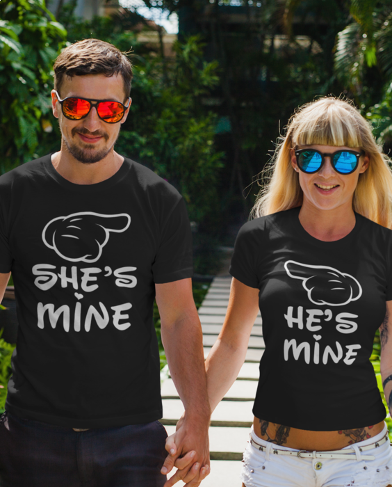 Smiešne tričká KOMPLET - she he is mine