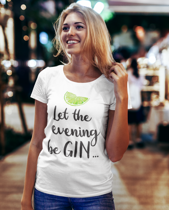 Smiešne tričko let the evening beGIN