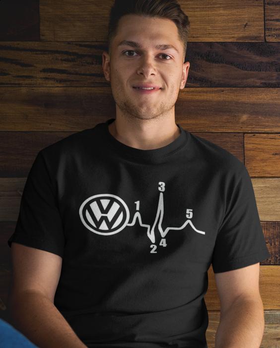 Smiešne tričko pulz (Značka auta podľa želania)