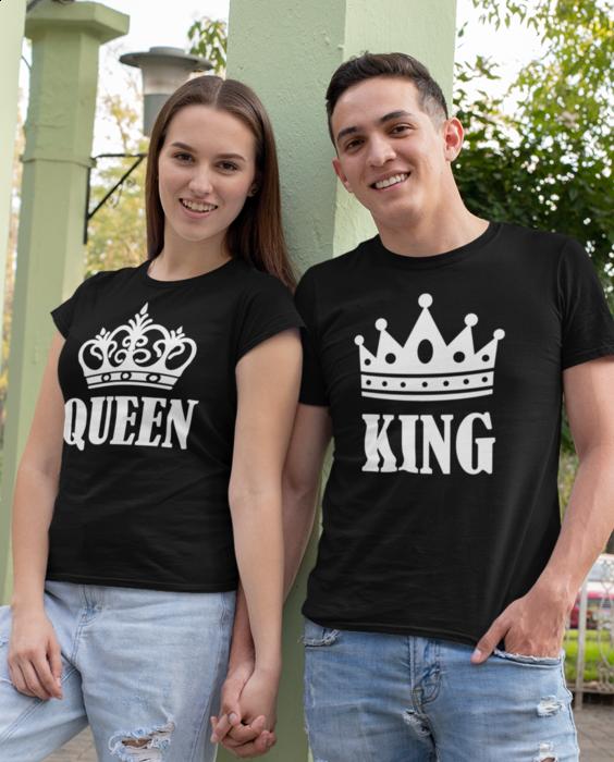 Smiešne tričká KOMPLET - king queen