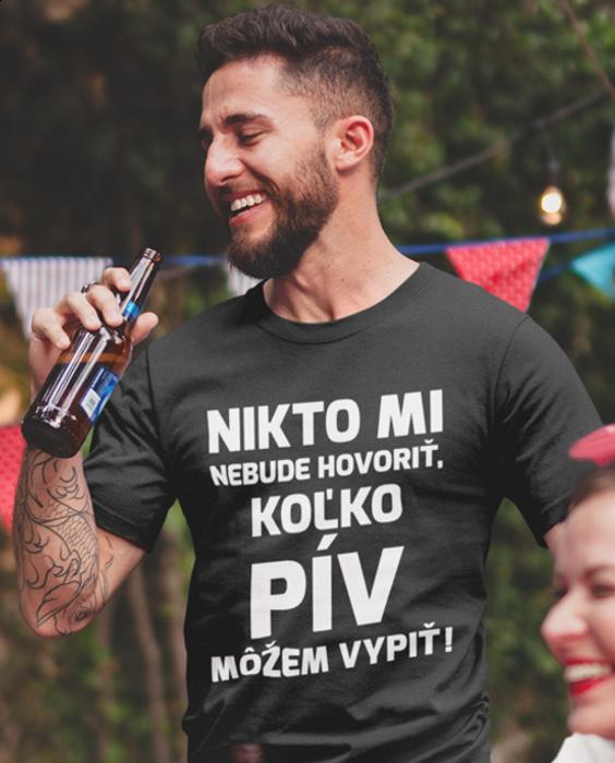 Smiešne tričko nikto PIVO