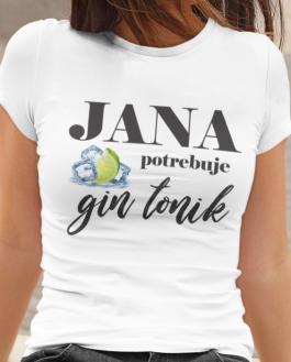 Smiešne tričko potrebuje gin tonik