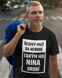 Smiešne tričko šedivý muž (Meno Podľa Želania)